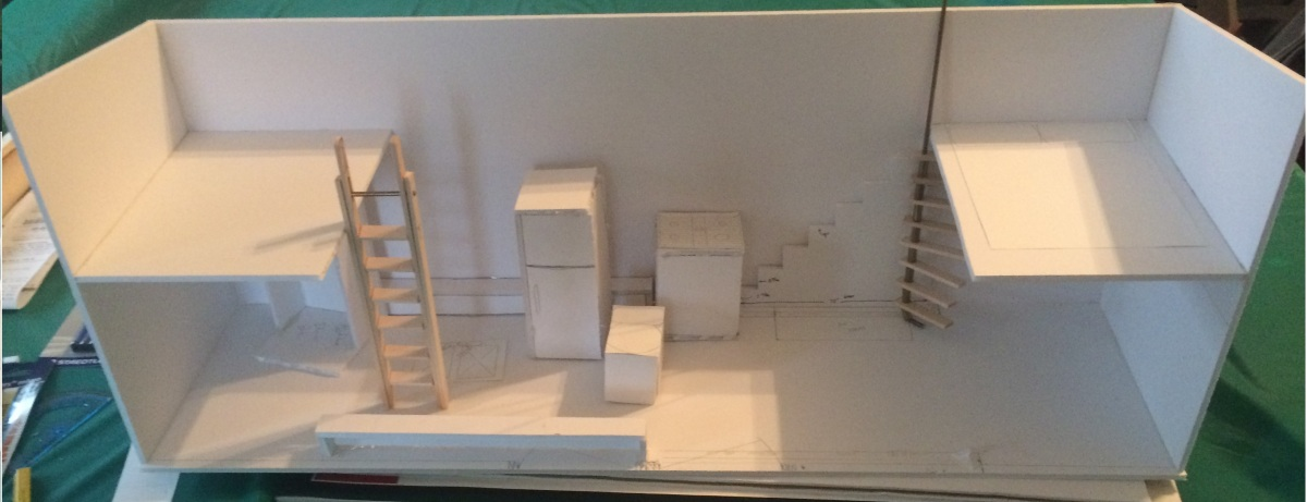 Foam Board Mini Houses : Want a d model of your tiny house plan but too busy to