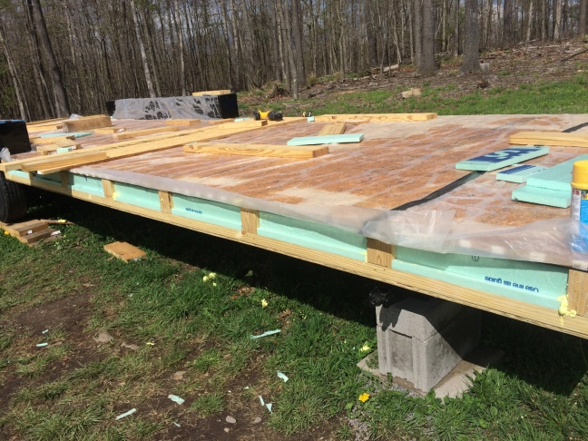 One Reason People Build A Tiny House Subfloor On Top Their Trailer Is To Have Complete Thermal Barrier From Floor Wall We Bought